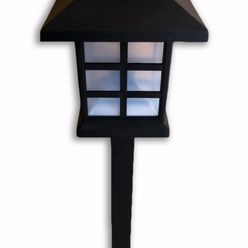 Lanterne solaire, style de maison en couleur noir, produit d'Eternel jardin