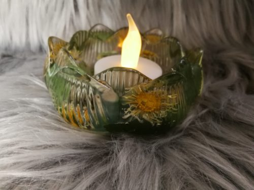 Bougeoir en résine, fleur de lotus, marguerite